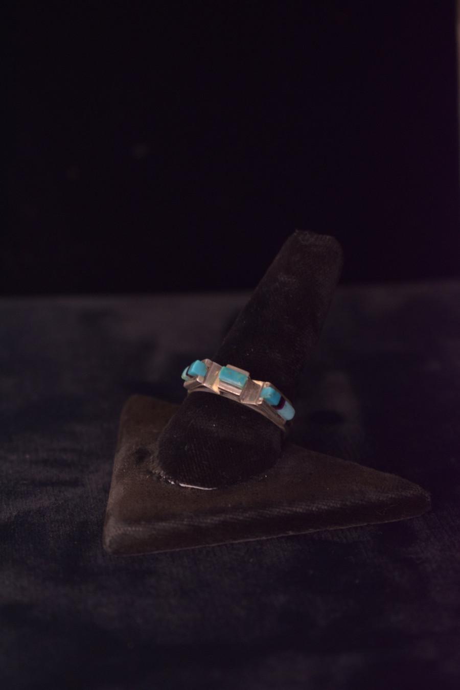 Cubic Zirconia & Turquoise Ring
