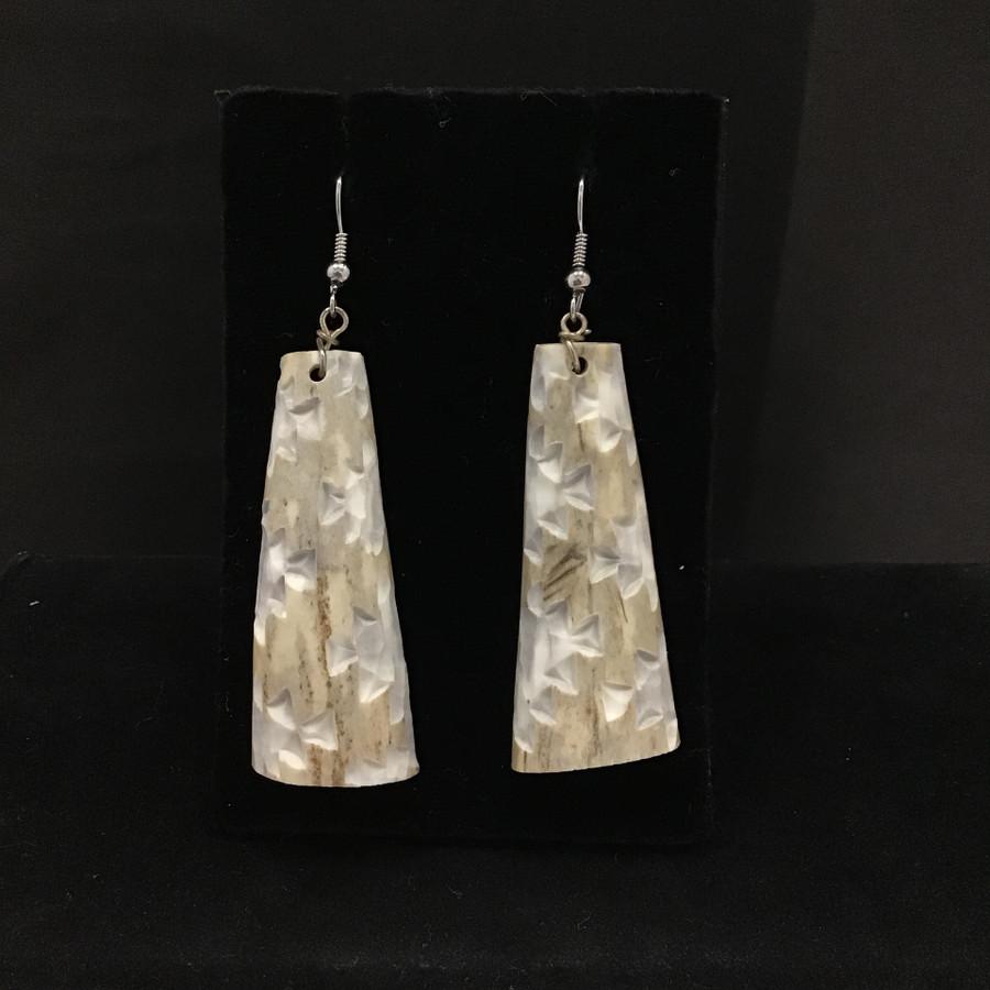 Small Elk Horn Design Earrings
