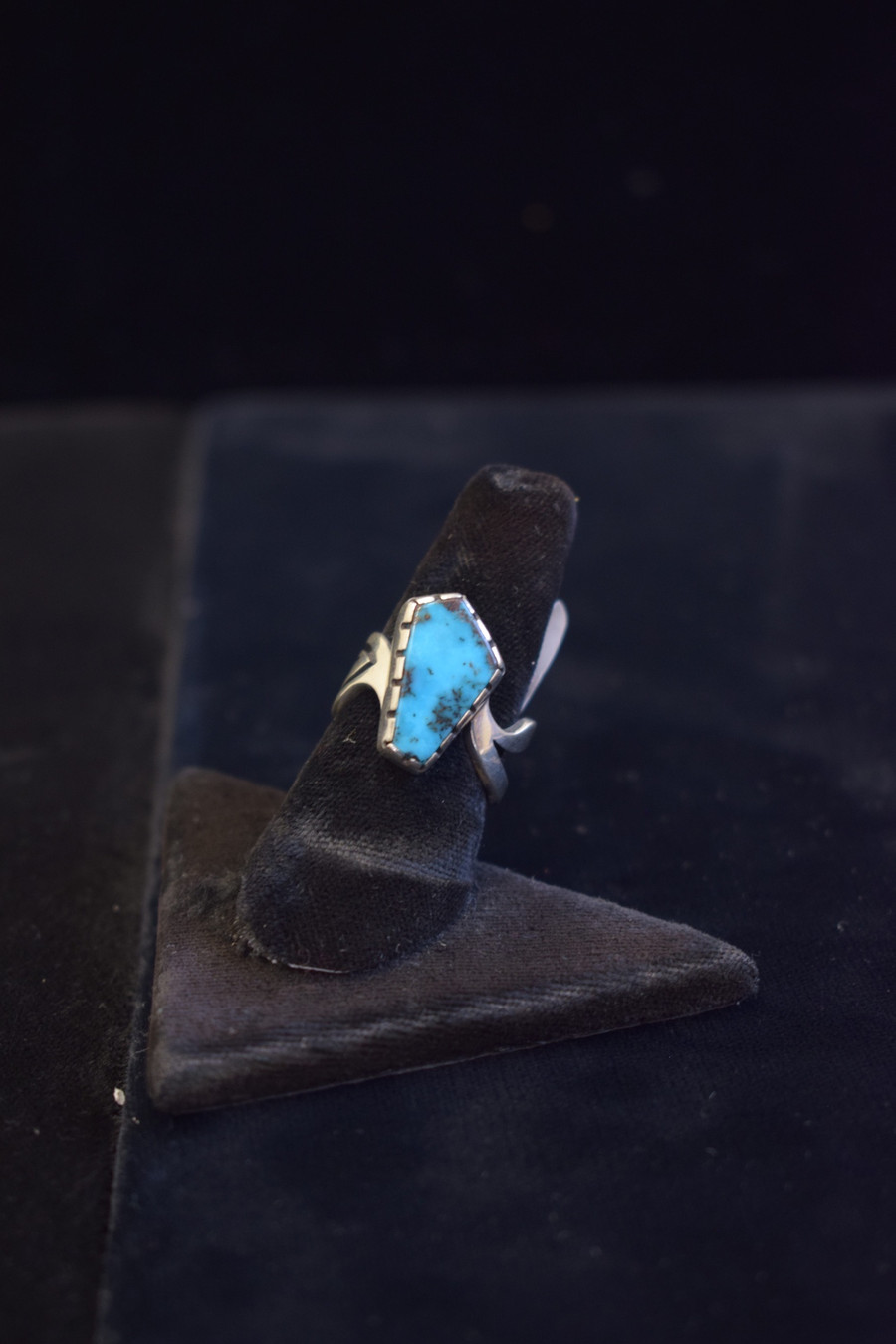 Silver Inlay w/Small Turquoise Stone Ring