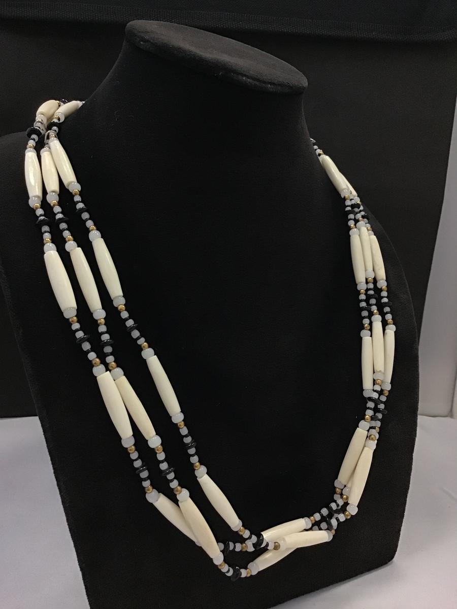 3 Strand Bone Necklace