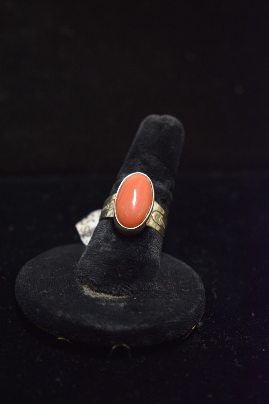Silver, Coral Ring