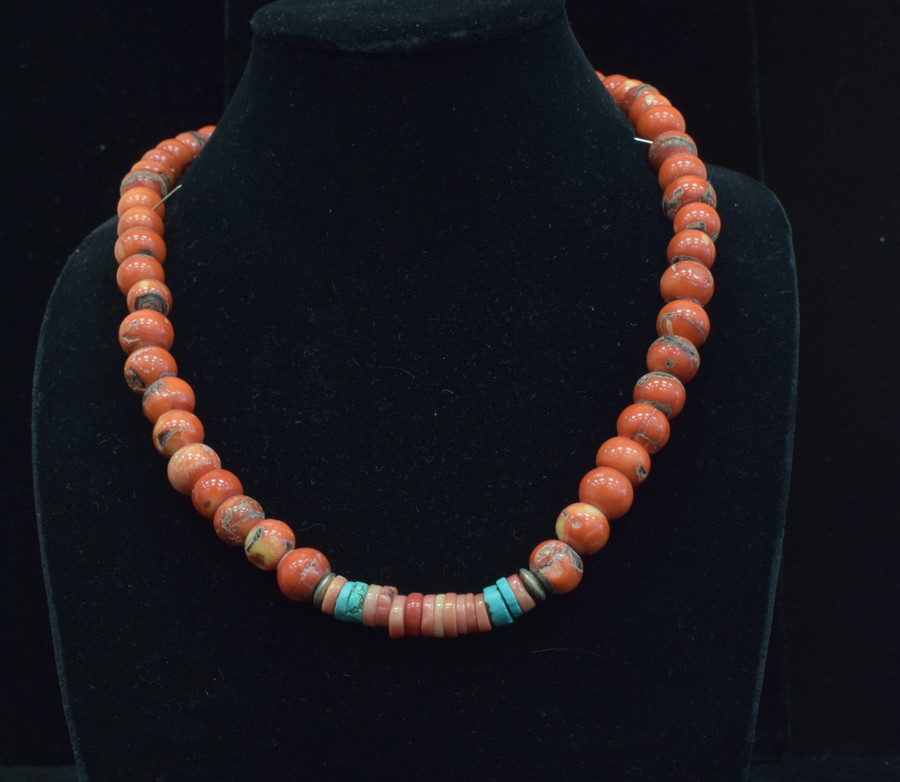 Coral Chunk Necklace