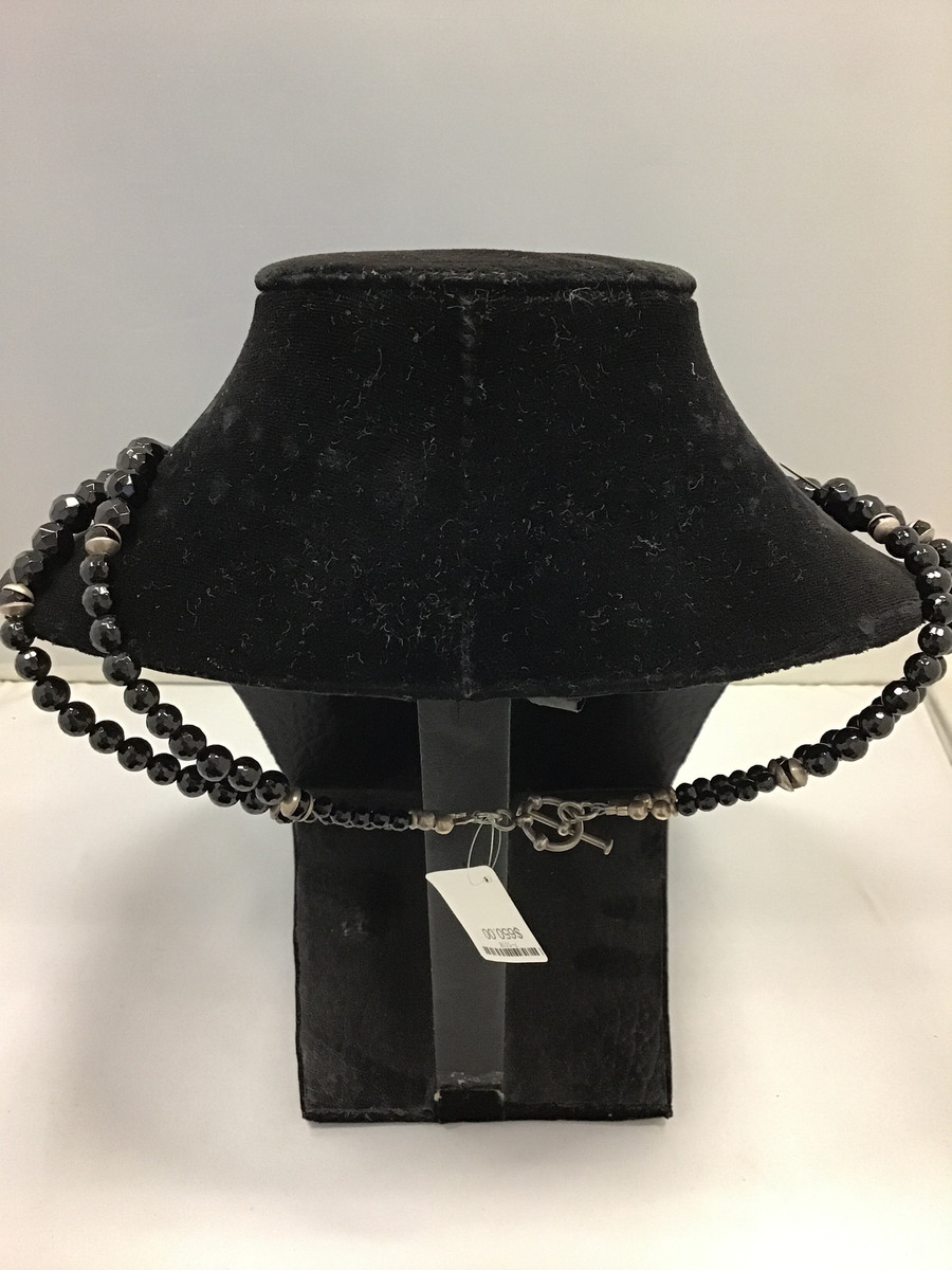 Jet/Opal Bead Necklace