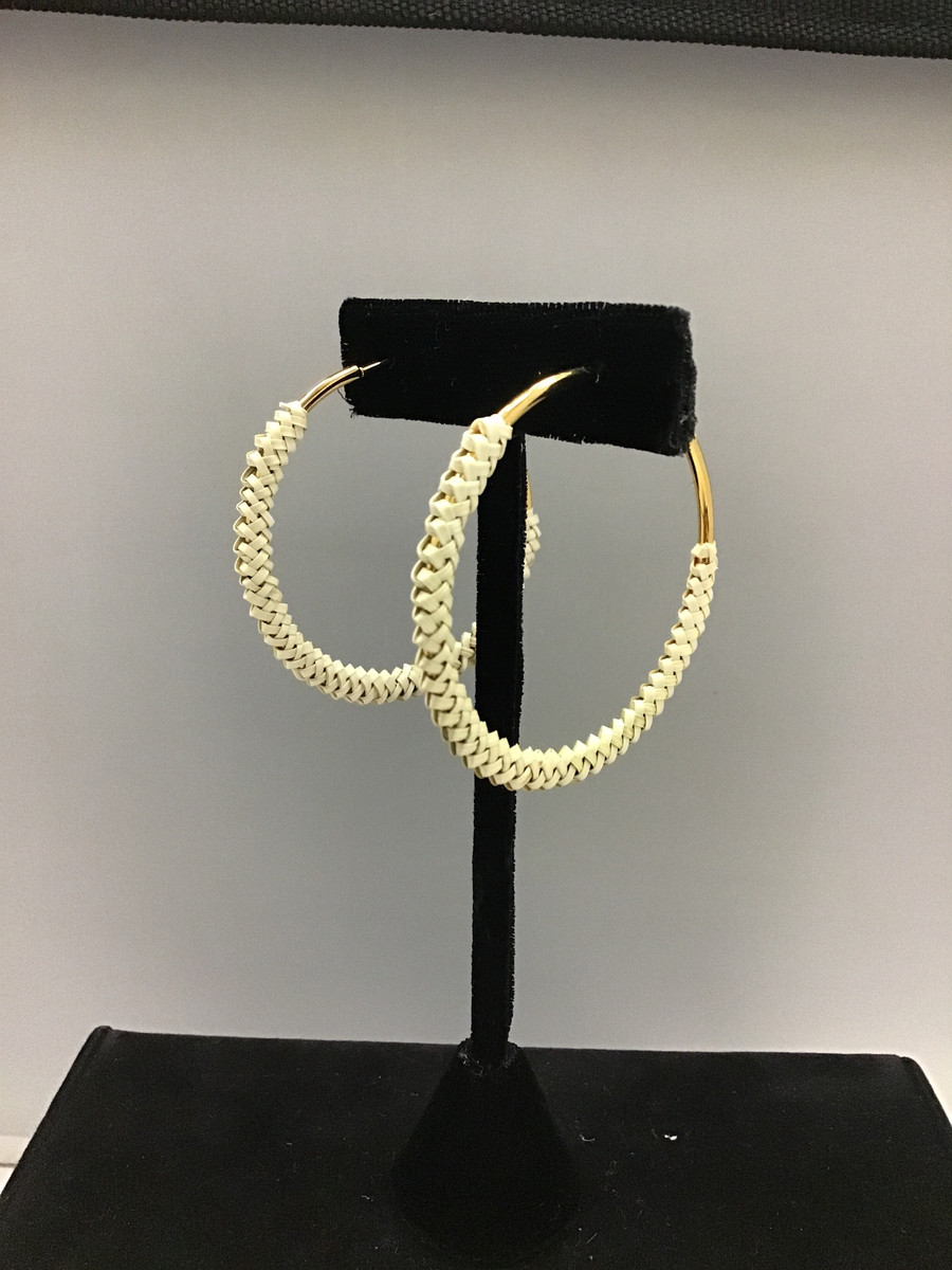 Beargrass Braided Hoop Earrings