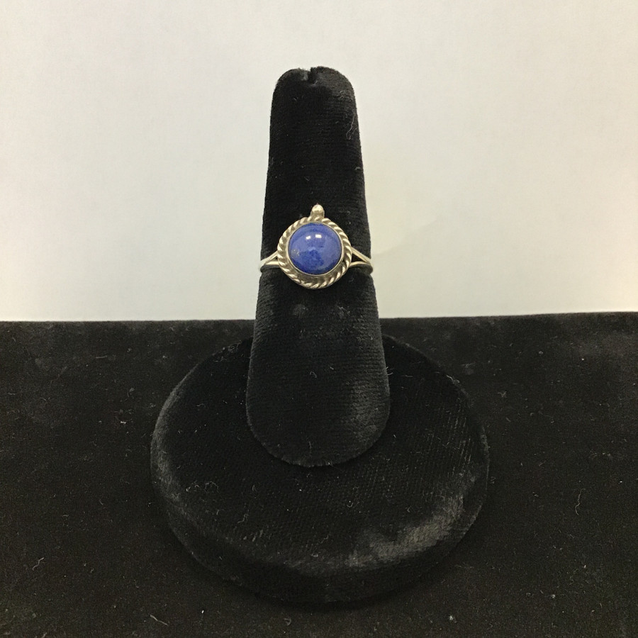 Round Lapis Ring