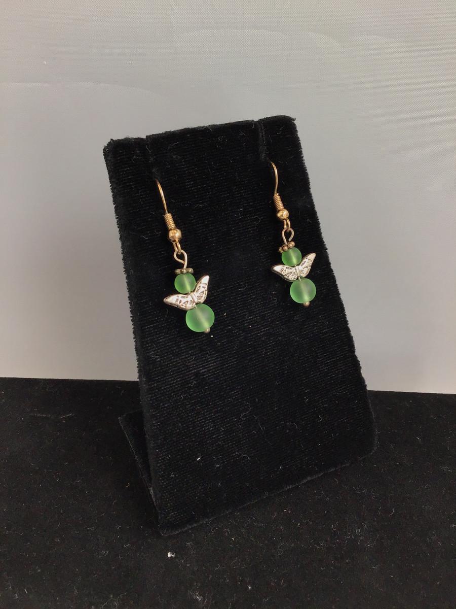 Green Angel Earring