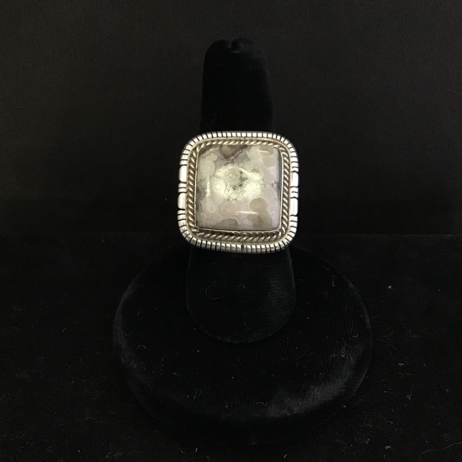 Square Agate Ring