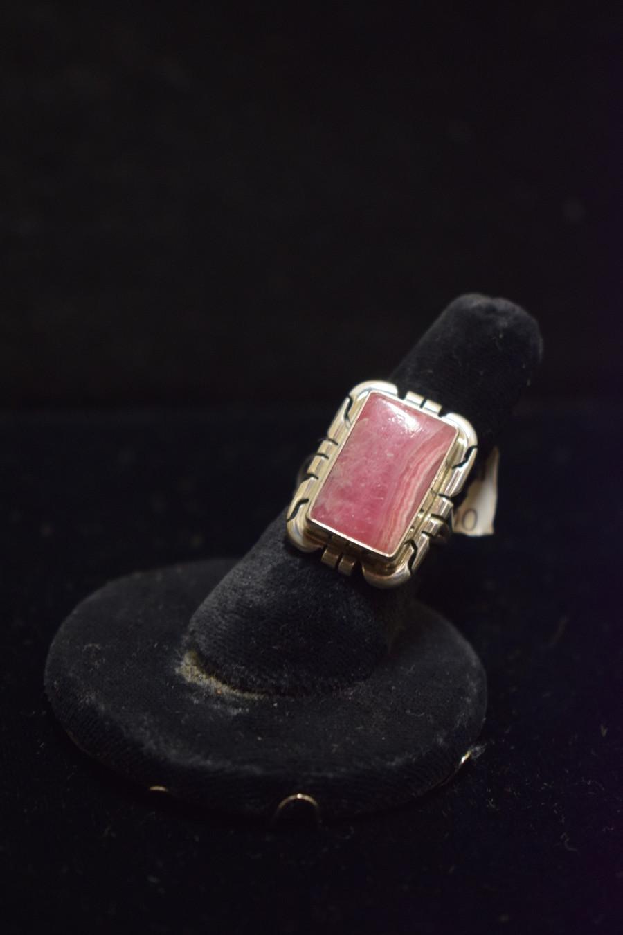 Rhodochrosite/Silver Ring