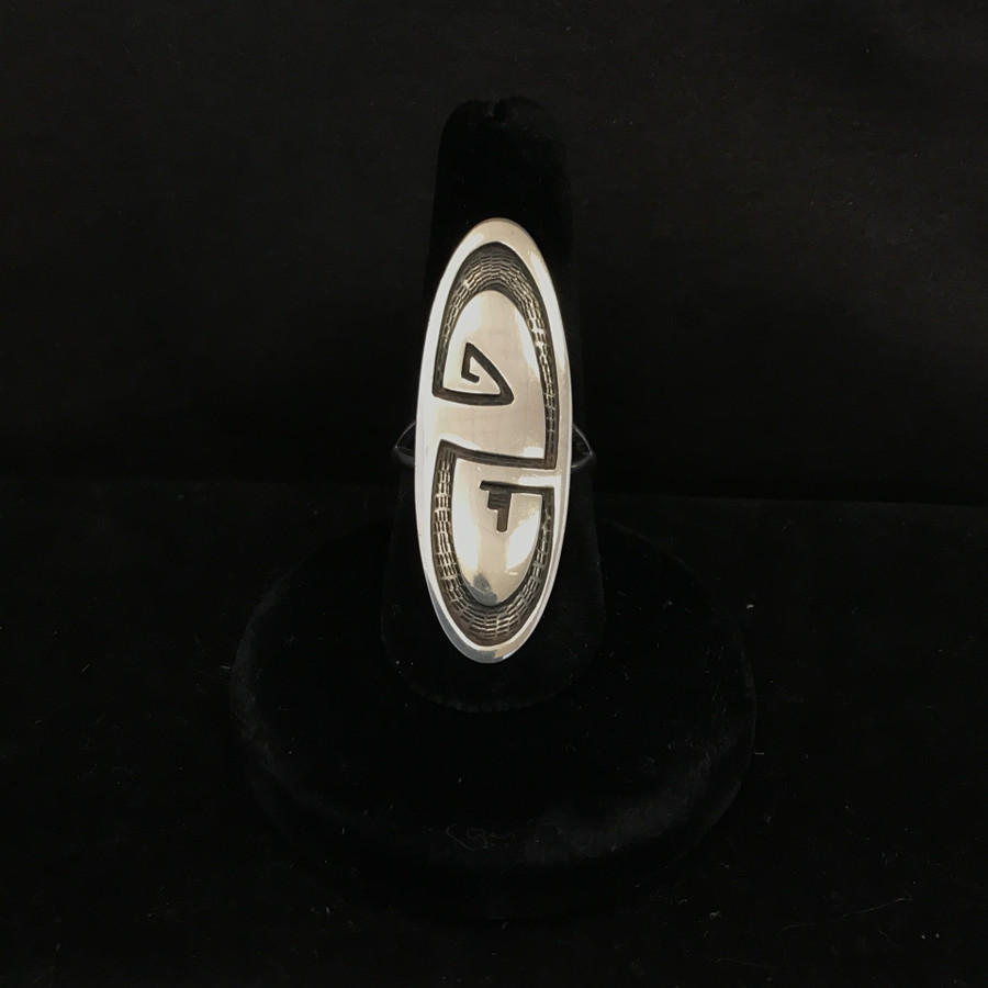 All Silver Hopi Design (Oval) Ring