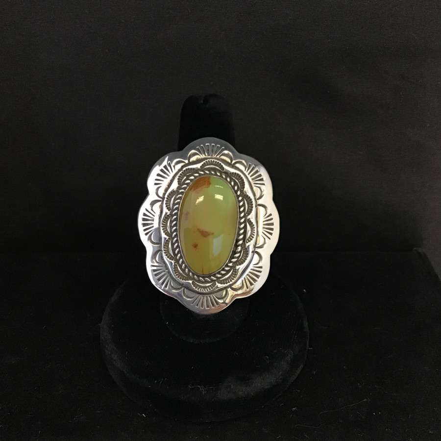 Roystone Turquoise Oval Adjustable Ring