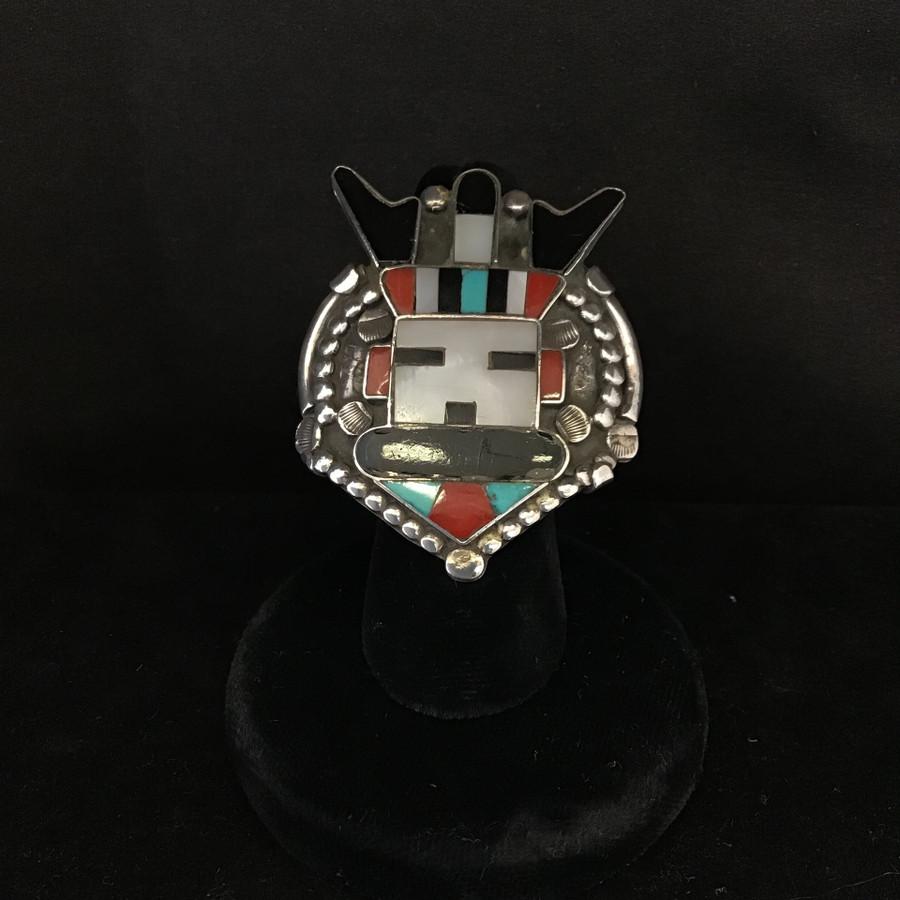 Inlay Indian Pawn Ring