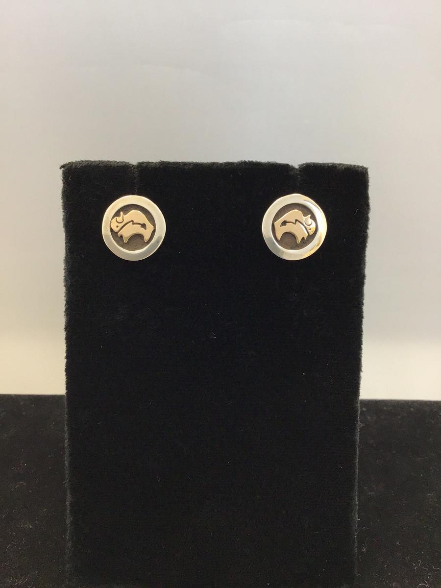 Small Buffalo Shadowbox Earring