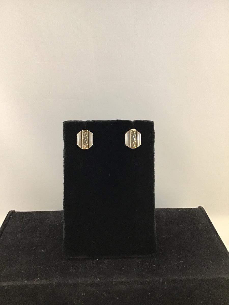 Octagon Lightning Design Earring