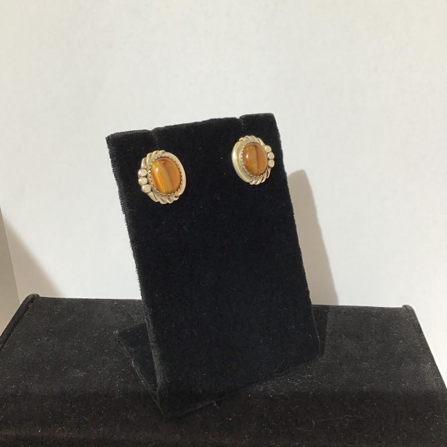 Hematite and Tiger Eye Earrings
