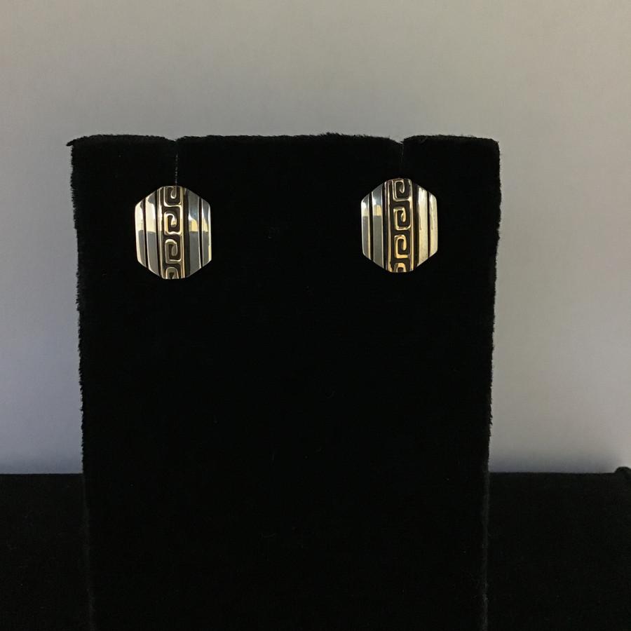 Acoma Key Design Post Earrings