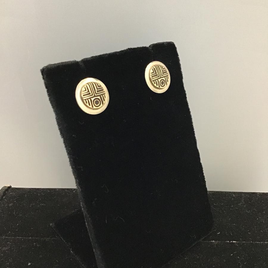 Small Sunface Design Post Earrings