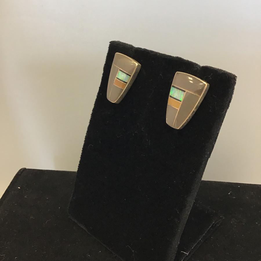 Sugilite Inlaid Earrings