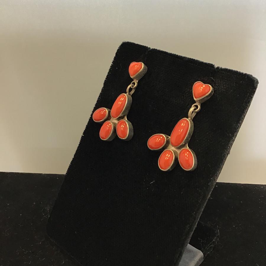 Coral Post Earrings