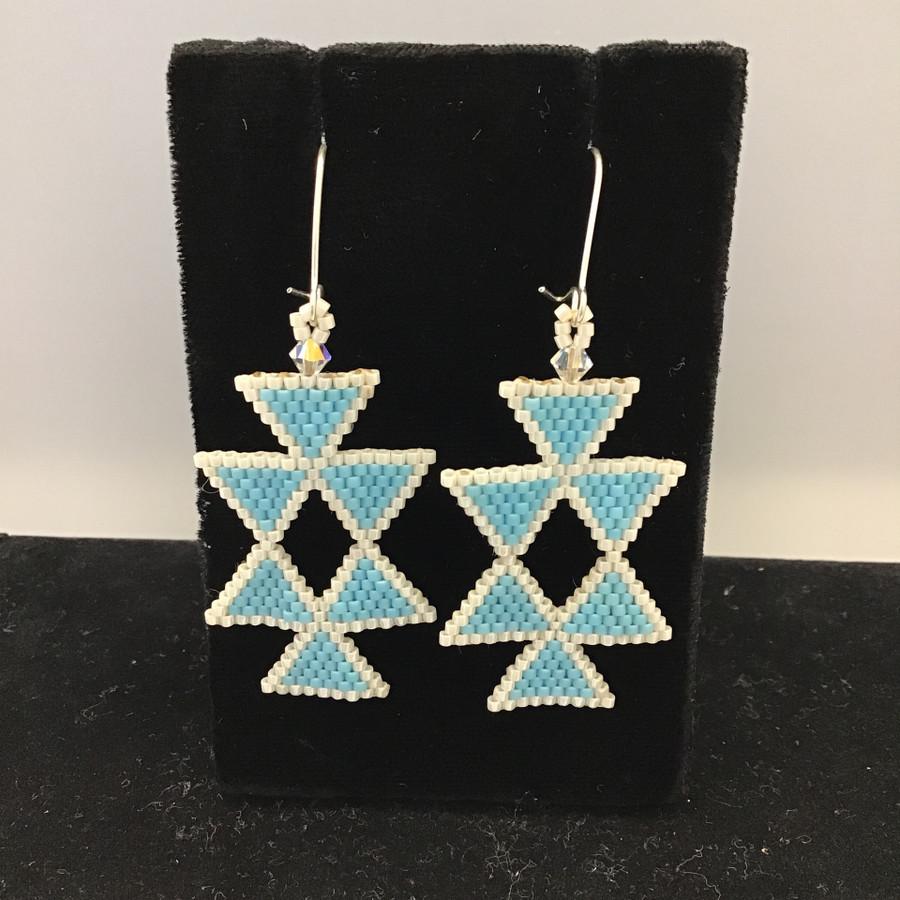 Brick Stitch Style Earrings