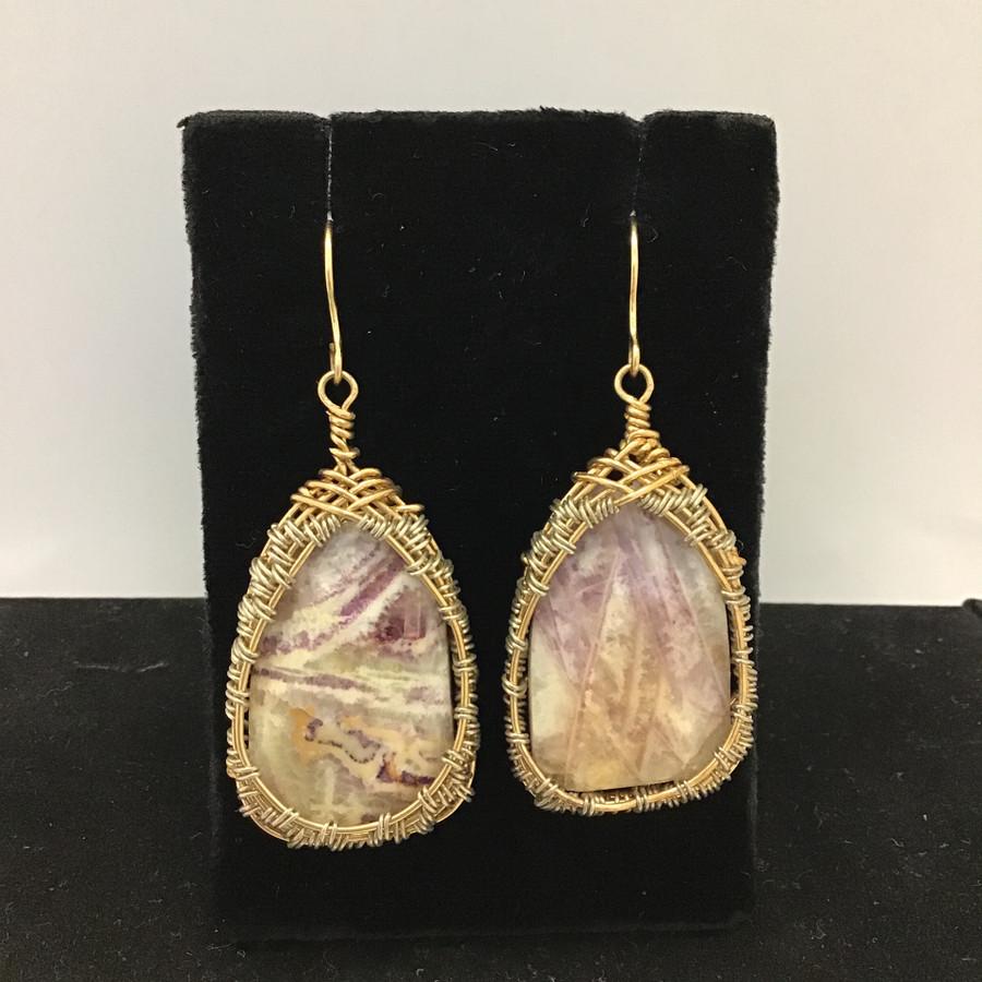 Saginated Amethyst Earrings