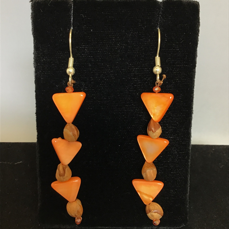 Abalone Triangle Earrings