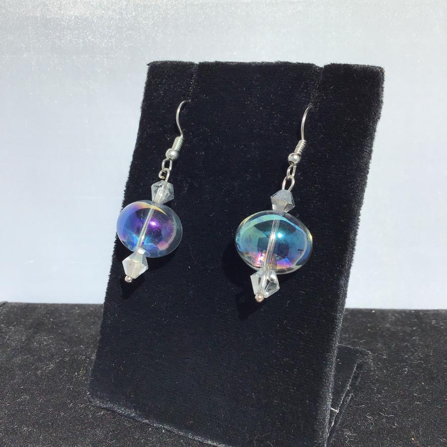 Small Grey Drop Earrings
