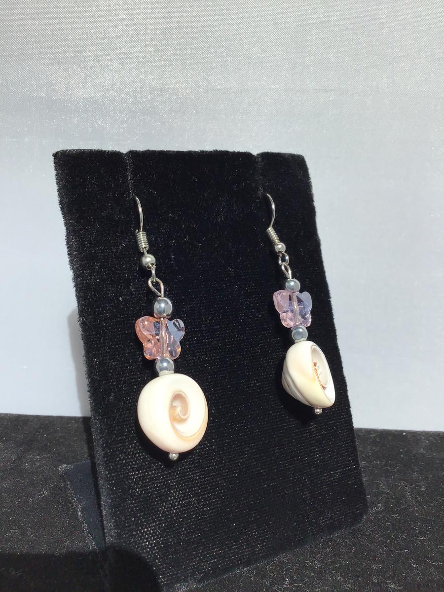 Swirly Shell Earrings