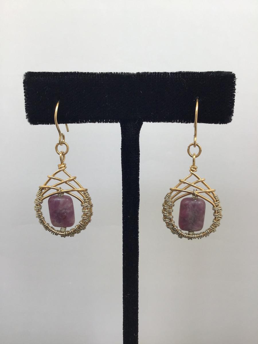 Purple Lepidolite Earrings