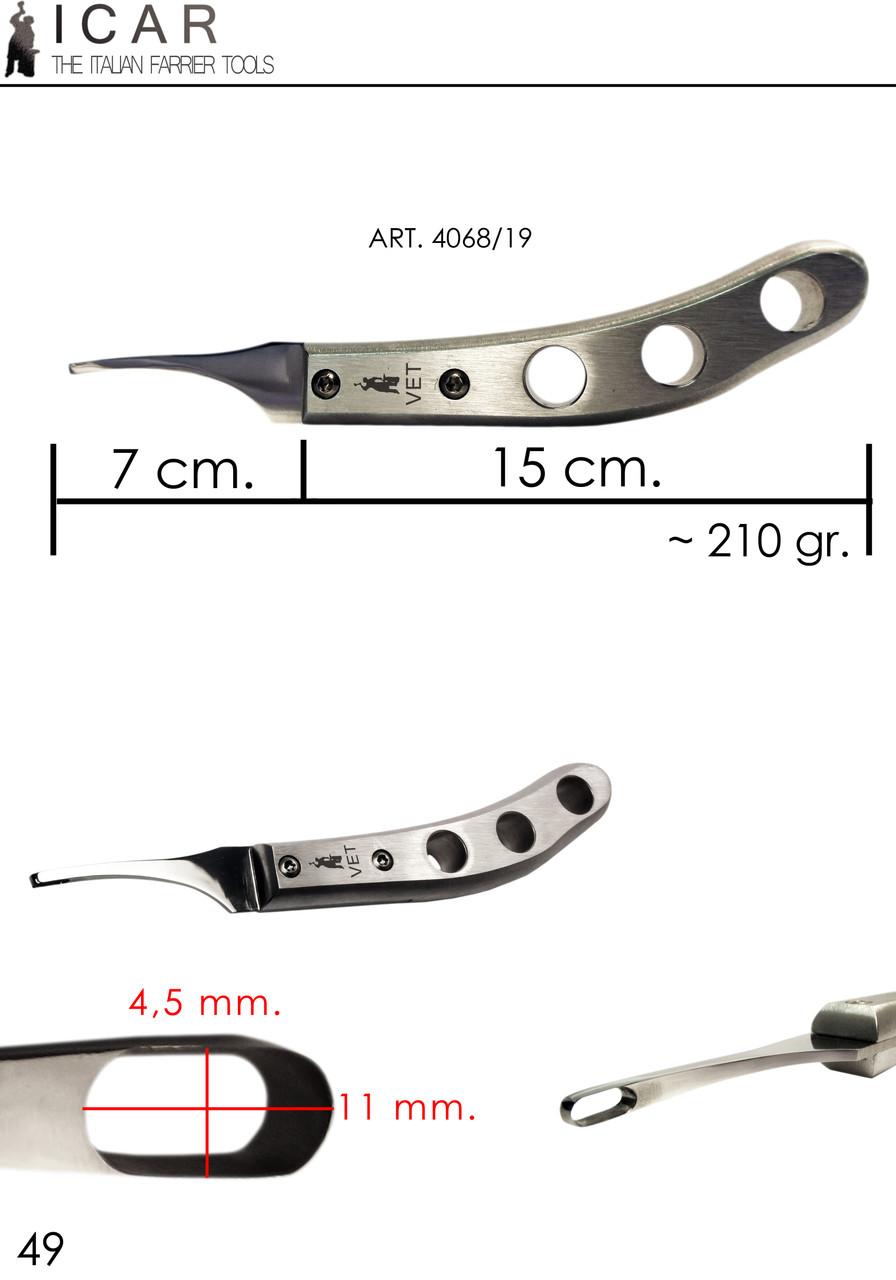 Icar Vet Loop Aluminium knife