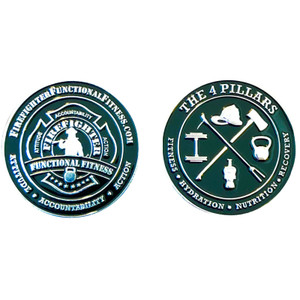 Firefighter Functional Fitness Challenge Coin