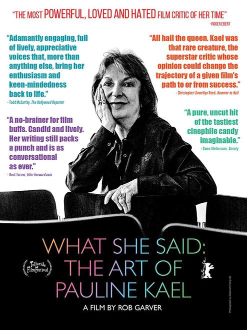 What She Said: The Art of Pauline Kael (region-1 DVD)