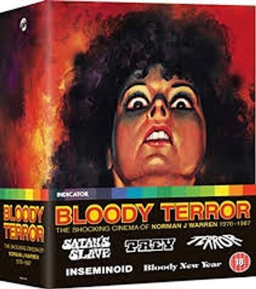 Bloody Terror: The Shocking Cinema of Norman J. Warren 1976-1987 (region-B 5blu-ray box set)