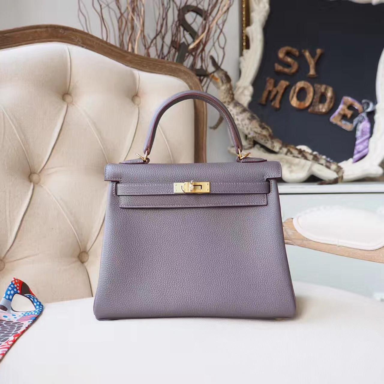 15bb214b2073 Hermes Kelly 25cm Bag Togo Calfskin Leather Gold Hardware