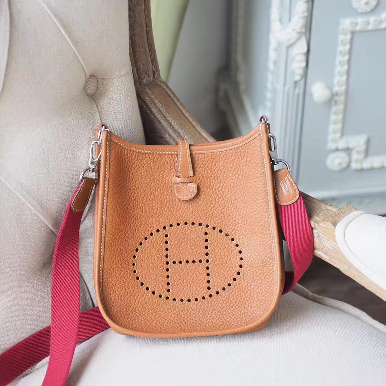 f6e45c2a176d Hermes Evelyne TPM 16cm Bag Taurillon Clemence Calfskin Leather Palladium  Hardware