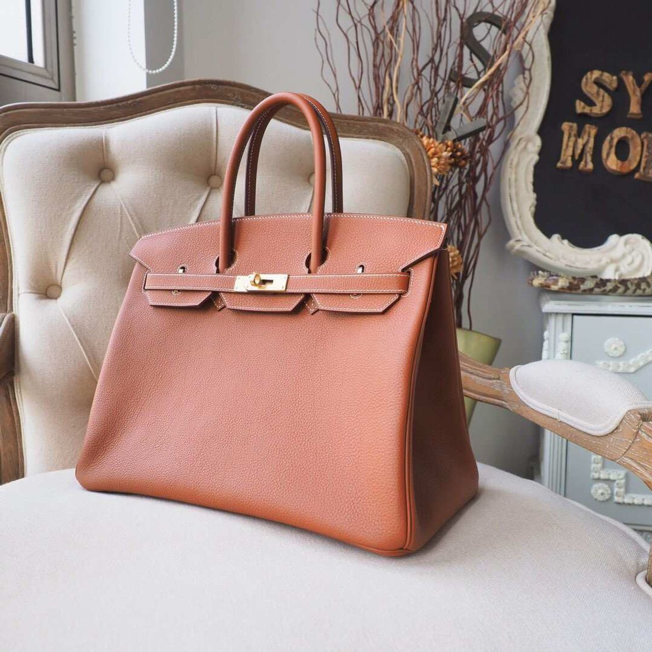 d6f13f6caee Hermes Birkin 35cm Bag Togo Calfskin Leather Palladium Hardware ...