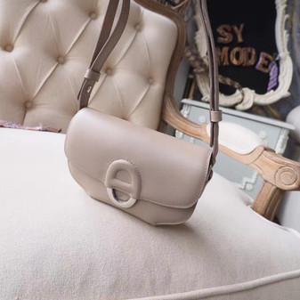 Hermes Cherche Midi Mini 20cm Bag Swift Tadelakt Calfskin Leather Gold Hardware, Argile 1F