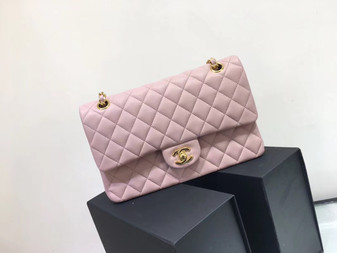 Chanel Classic Flap 25cm Bag Gold Hardware Lambskin Leather Spring/Summer 2018 Collection, Pink