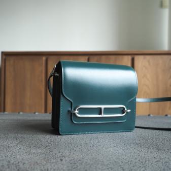 Hermes Roulis 18cm Bag Box Calfskin Leather Palladium Hardware, 2Q