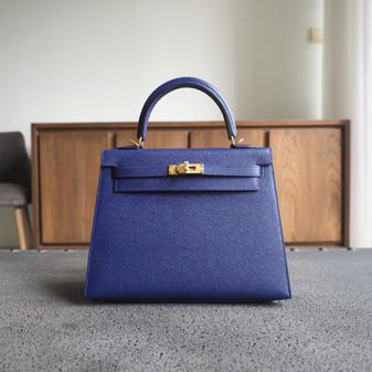 Hermes Kelly 25cm Bag Epsom Calfskin Leather Gold Hardware, M3