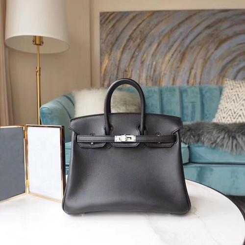 5238ef75729 Hermes Birkin 25cm Bag Swift Calfskin Leather Palladium Hardware