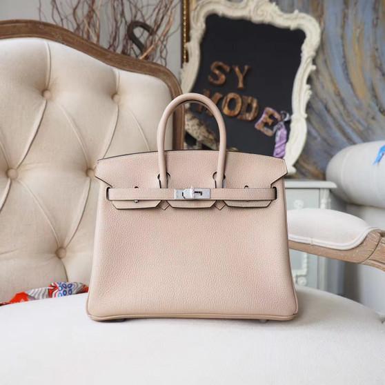 Hermes Birkin 25cm Bag Togo Calfskin Leather Palladium Hardware, Trench S2