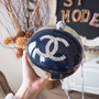Chanel Evening On The Moon Minaudiere Resin Bag Fall/Winter Act 2 Ground Control 2017 Collection, Navy Blue