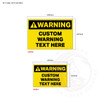 Custom Warning Signage - sign sizes