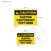 Custom Caution Signage - sign sizes