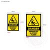 Danger - Beware of Slippery Floor - Sign sizes