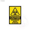 Caution - Hazardous Waste Storage Sign