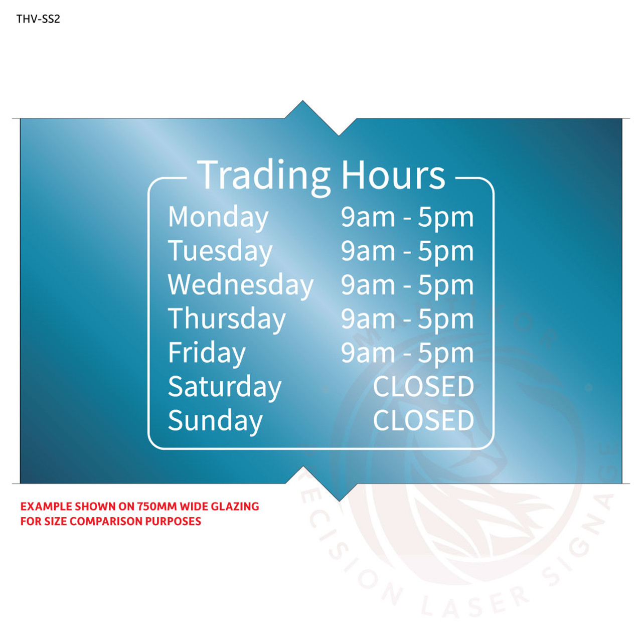 Custom trading hours decal - Style 2