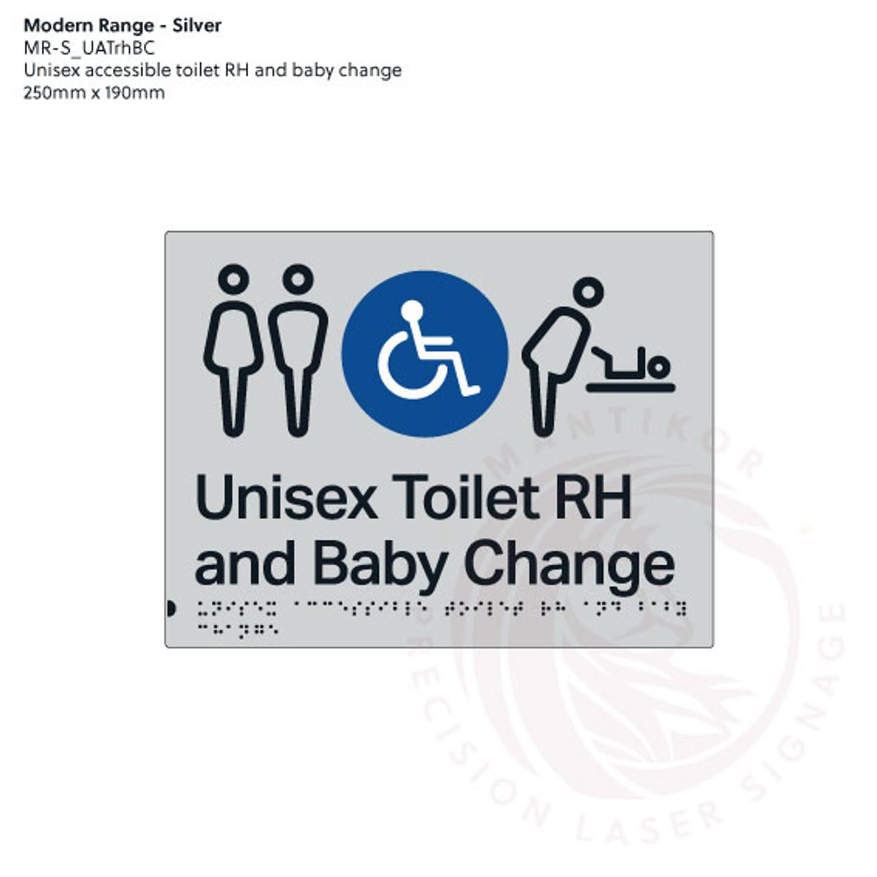 Unisex accessible Toilet RH and Baby Change (MR-S_UATrhBC)