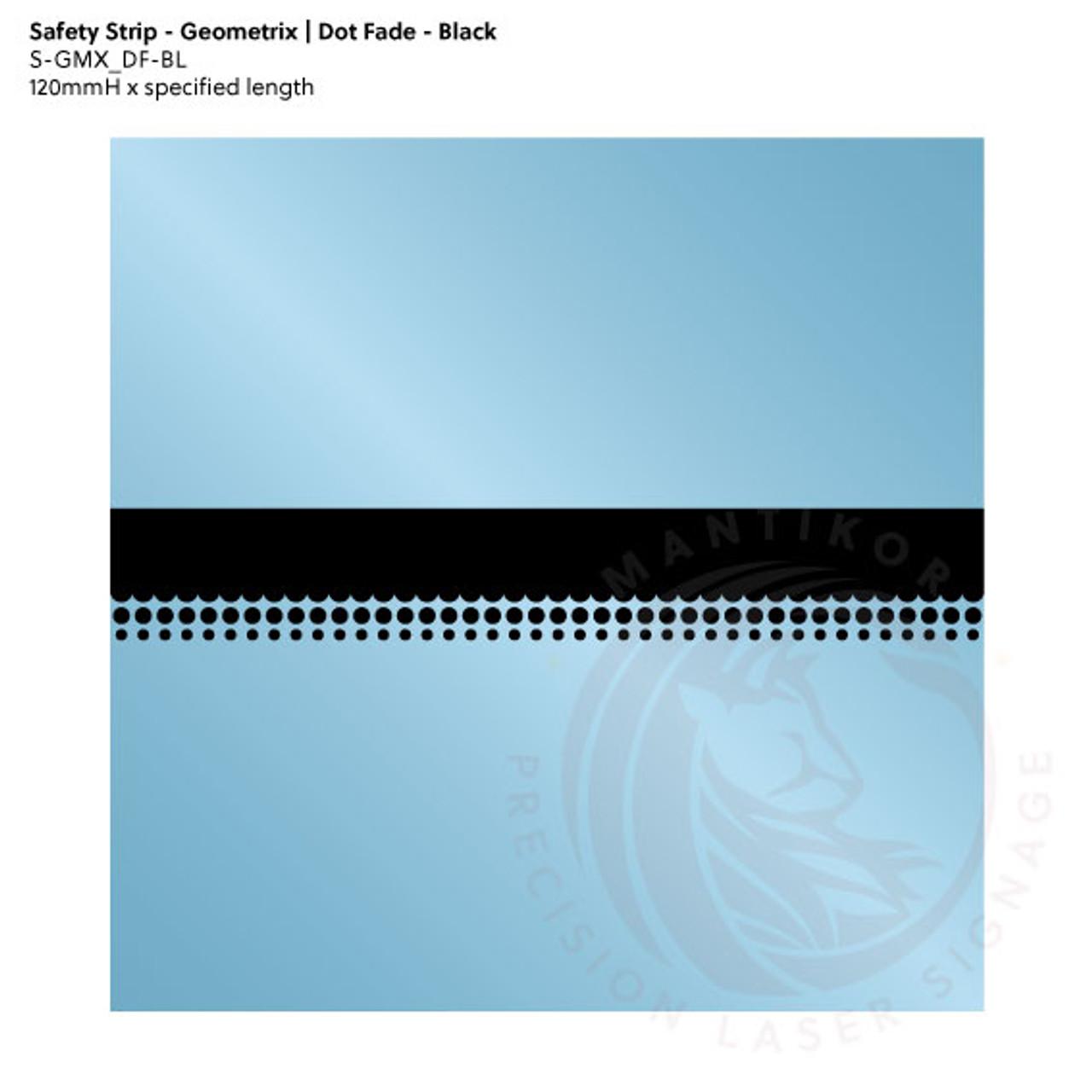 Visibility Strip - Geometrix | Dot Fade - Black