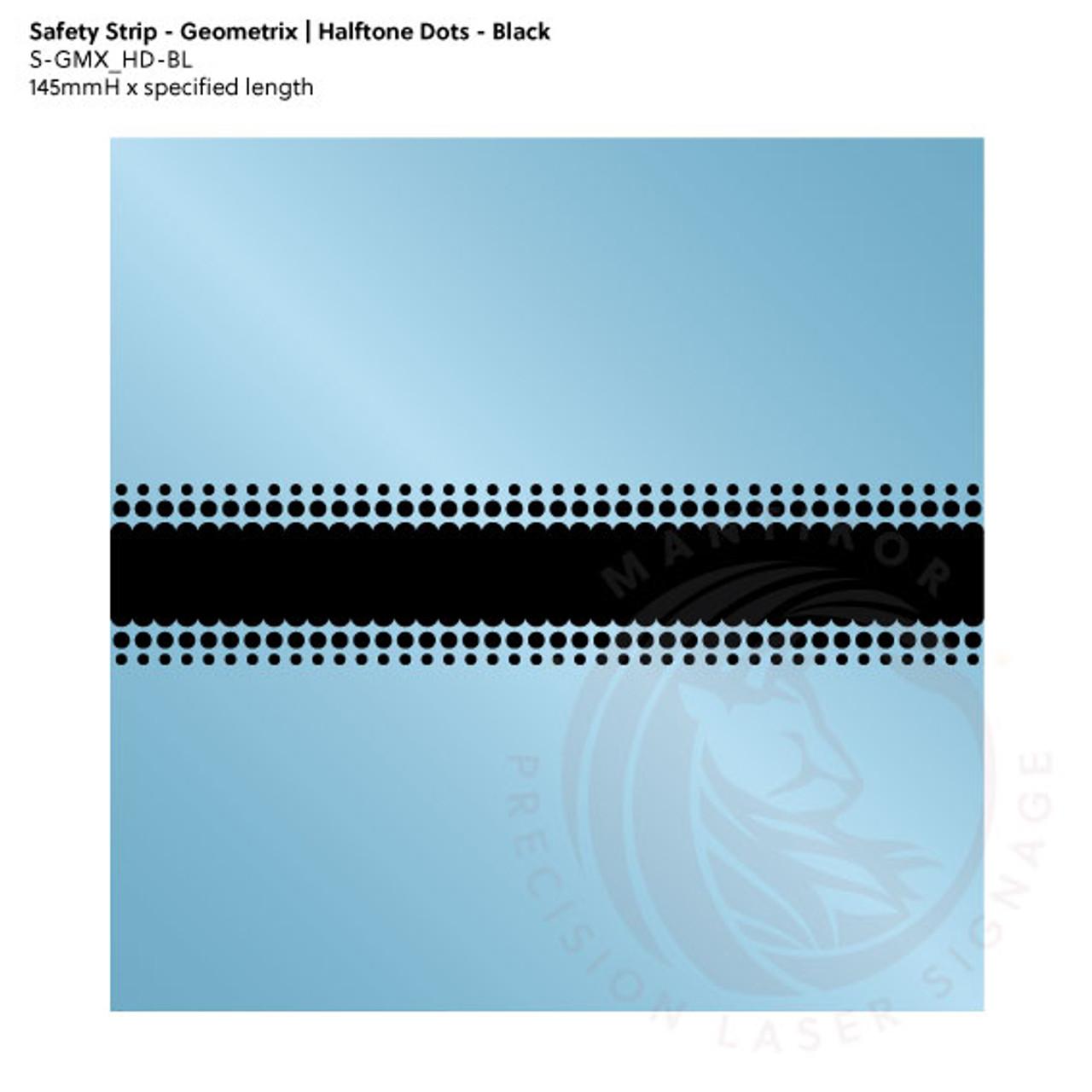 Visibility Strip - Geometrix   Halftone Dots - Black